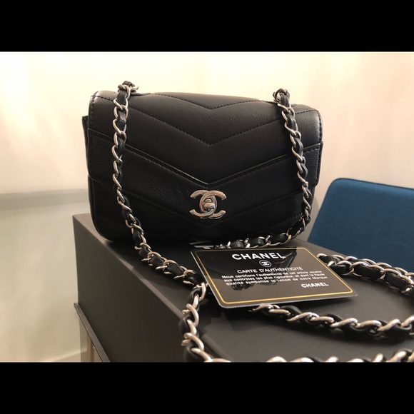 fd32da5b8781 CHANEL Bags | Mini Classic Flap Bag Square In Chevron | Poshmark